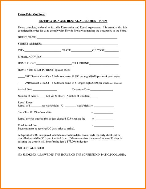 rent agreement template free 8 simple one page lease agreement template ledger paper