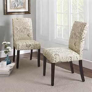 Dining Room Chairs Pattern Dorel Living Blakely Upholstered Script Parsons Dining