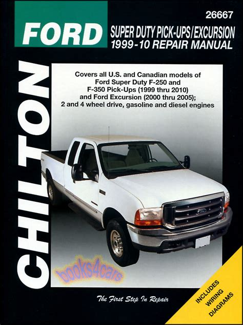 ford f250 f350 shop service repair manual chilton book haynes pickup 4x4 truck ebay