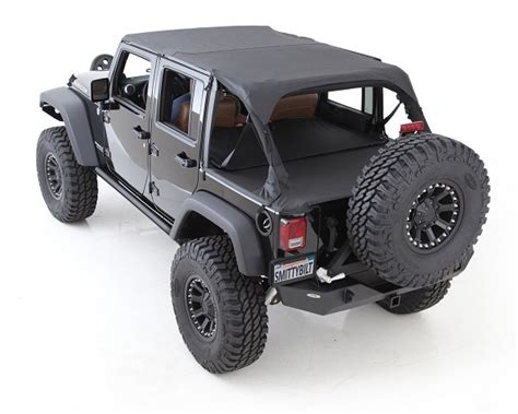 Cover For Jeep Wrangler Smittybilt 761335 Black Soft Top Tonneau Cover For