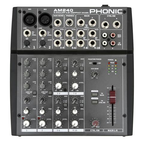 Mixer Audio Phonic phonic am240 audio mixer