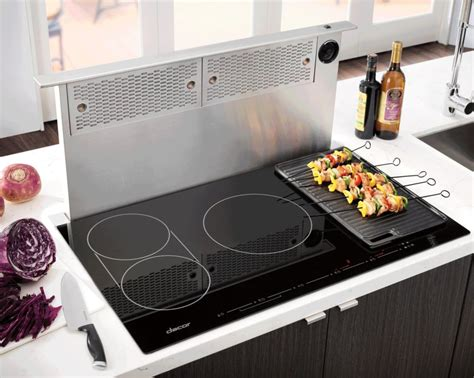 36 inch induction cooktop with downdraft dacor dytt365nb 36 inch electric induction cooktop with 5
