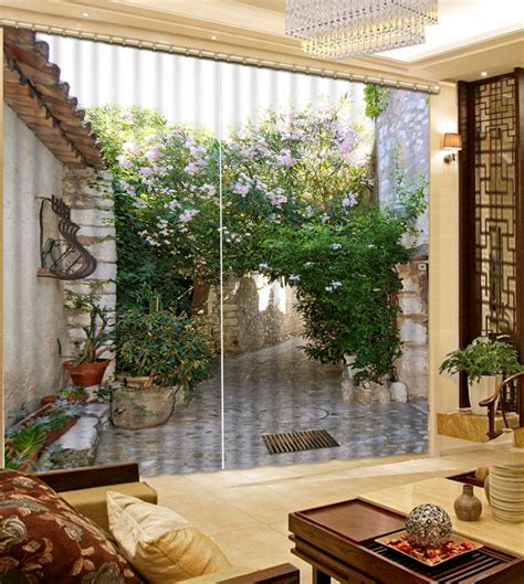 Scenery Window Curtains New Style Customized 3d Curtains Factory Diret Sale Scenery 3d Window Curtains For Bedding Room