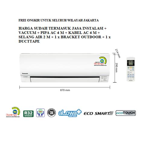 Ac 1 2 Pk Di Electronic City promo ac panasonic 1 2 pk low watt cs kn5skj freon r32