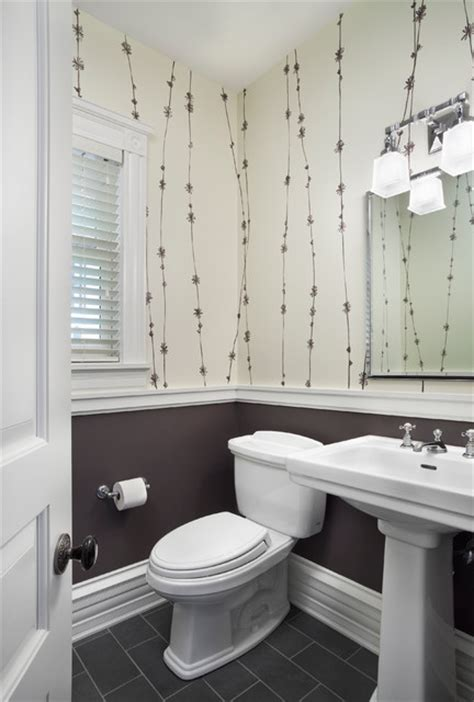 window decor powder room hyde park renovation transitional powder room
