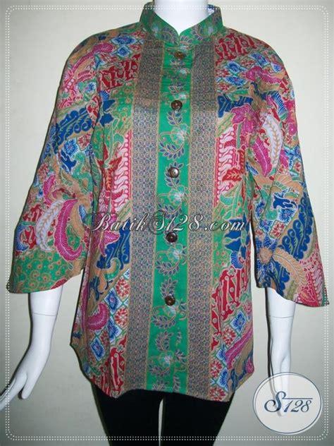 Baju Kerja Xl baju kerja kantor batik seragam blus kerja batik wanita masa kini bls604p xl toko batik