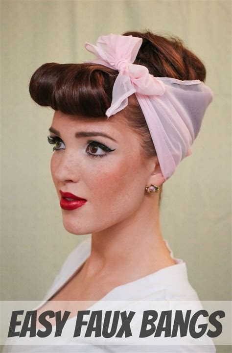 Modern Pin Up Hairstyles by The Freckled Fox Modern Pin Up Week 4 Easy Faux