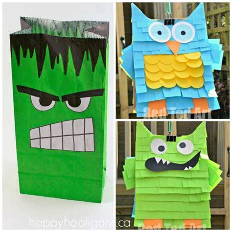 Paper Bag Pinata Bag Goodies Bag Kantong Friends 35 cool things to make with a paper bag happy