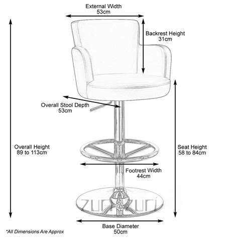 bar height bar stools dimensions chateau adjustable height swivel bar stool with chrome