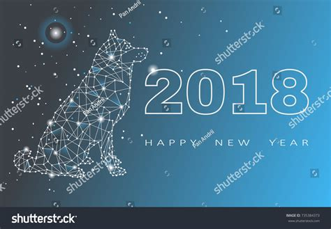 new year song astro 2018 2018 happy new year greeting card stock illustration