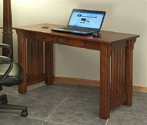 style desk mission style solid oak office computer desk 55 quot the