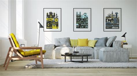 yellow grey and blue living room ideas with meaning