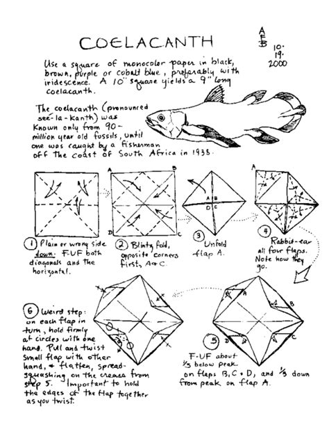 Origami Koi Fish Diagram - free coloring pages free origami diagrams 101 coloring