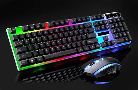 rainbow light up keyboard rainbow color backlight adjustable led gaming usb