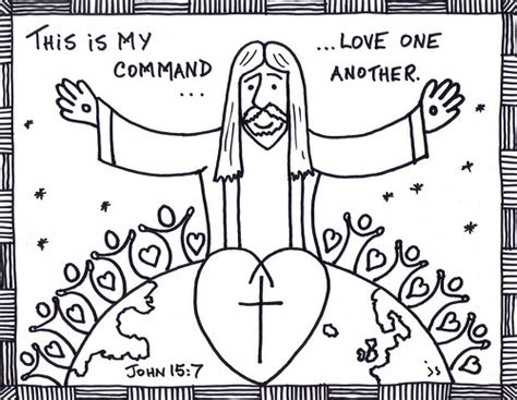 free love one another coloring pages