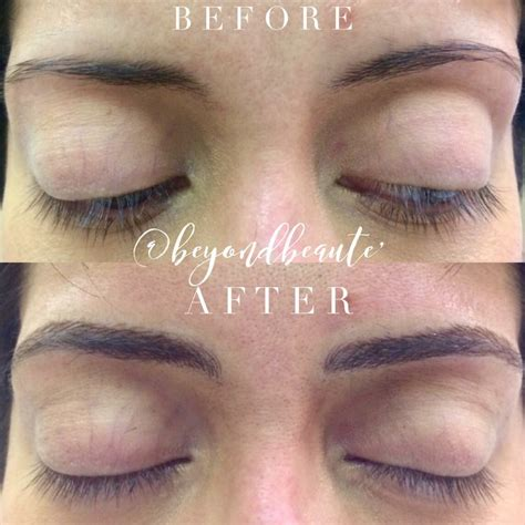 above eyebrow tattoo permanent eyebrow vs microblading beyond beaute
