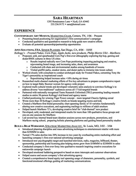 advertising resume exles objective for marketing resume entry level marketing