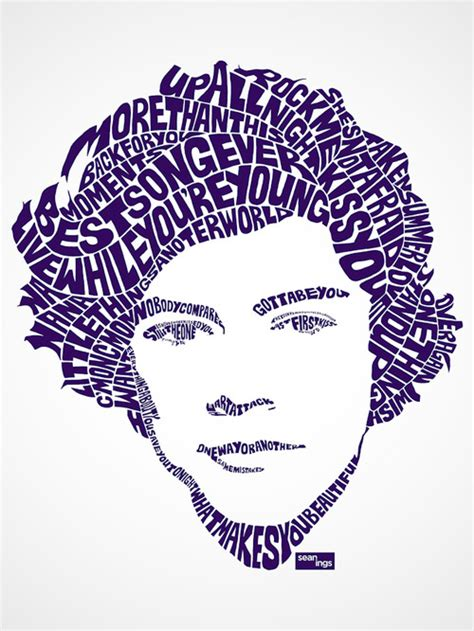 typography wiki using song lyrics artist creates typographic portraits of