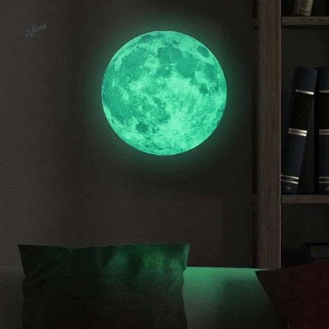 glow in the dark wall murals aliexpress com buy glowing moon wall stickers glow in