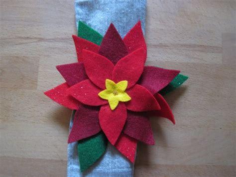 pattern for felt poinsettia napkin ring 83 best felt napkin ring ideas images on pinterest