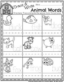preschool workbooks word tracing animal alphabet word tracing workbook books preschool worksheets planning playtime