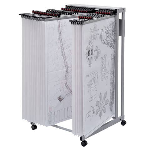 mobile display carrier drawing hanger system trolley
