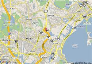 Revere Hotel Boston Map by Map Of Courtyard By Marriott Boston Revere Saugus Malden