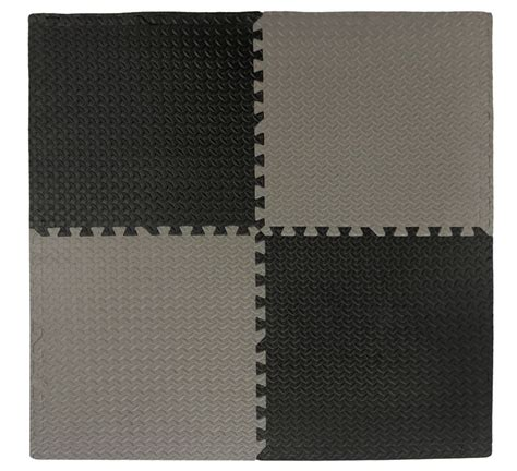 anti fatigue interlocking mat black grey 24 inch x 24