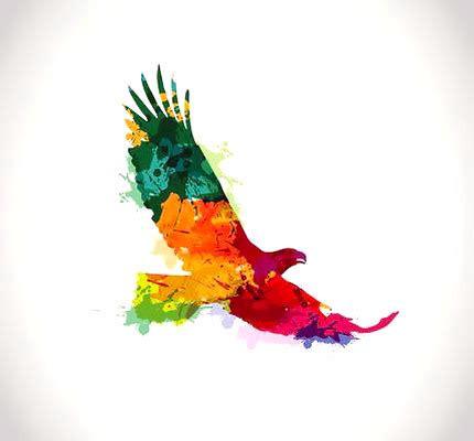 watercolor eagle tattoo design