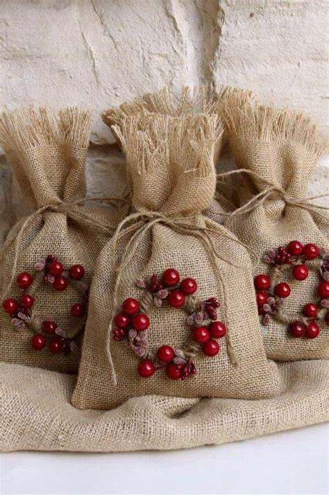 bolsas de dulces para navidad bolsas navide 241 as de yute dale detalles