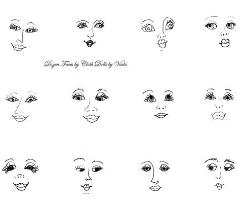 printable paper doll faces simple patterns cloth dolls search results calendar 2015