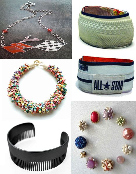 Handmade Jewellery Materials - create recycled jewelry from more than 40 different