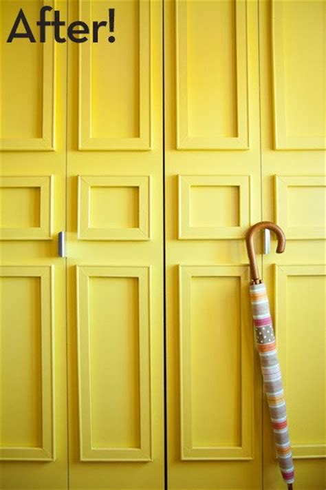 Removable Closet Remodelaholic 40 Ways To Update Flat Doors And Bifold Doors
