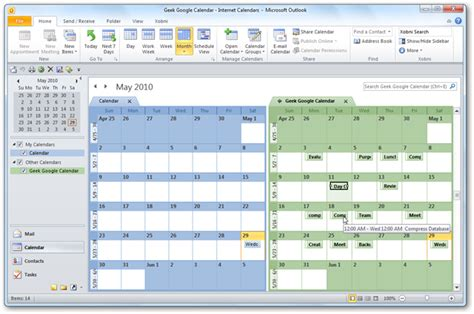 make changes to calendar in outlook view your calendar in outlook 2010