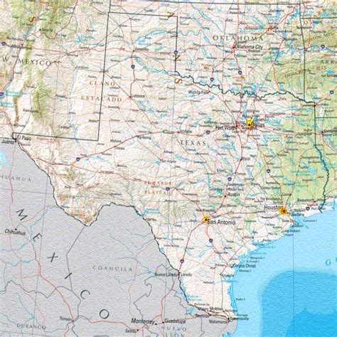topographical map of texas texas maps
