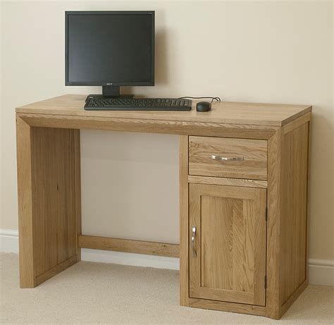 bevel solid oak computer desk home office furniture