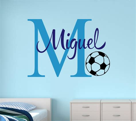 customize wall stickers customize name soccer wall stickers for room