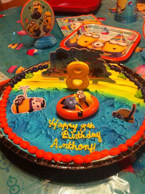 Decorated Birthday Cakes At Walmart by Minion Cookie Cake We Took The Cake Decoration From