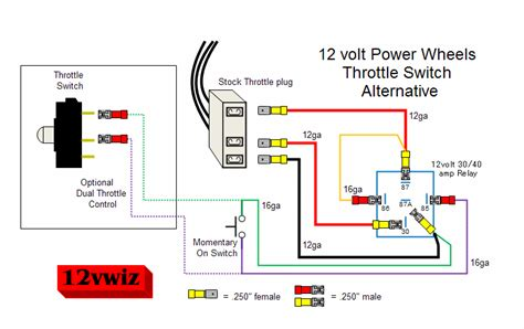 modified power wheels wiring a relay