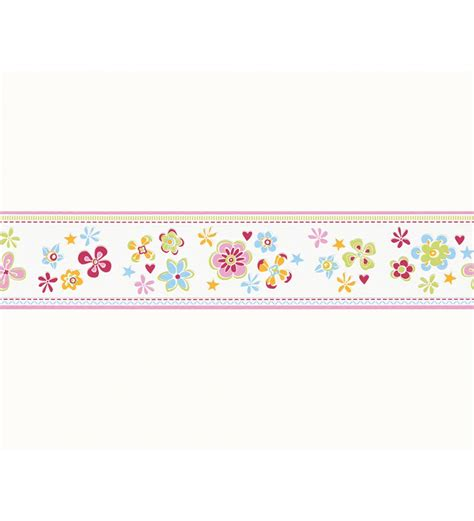 cenefas para imprimir cenefa para ni 241 as flores multicolores y rayas 1140688