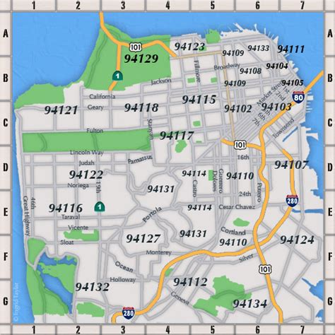 san francisco neighborhood map pdf san francisco map by zip code