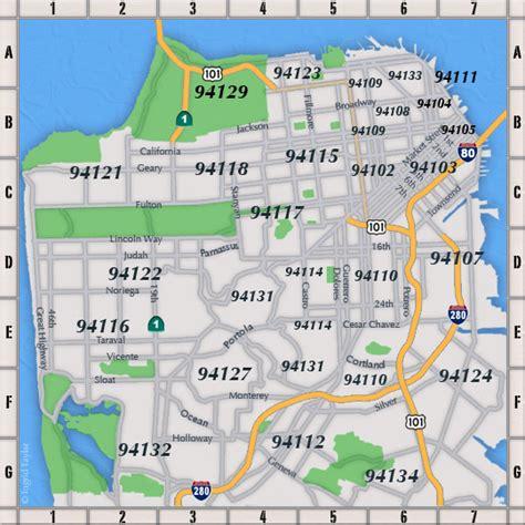 zip code map san francisco san francisco map by zip code