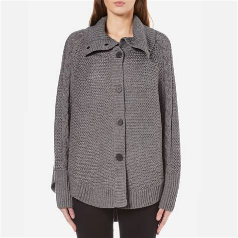Sweater Ggs ugg s maribeth heavyweight sweater knitted cape charcoal free uk delivery 163 50