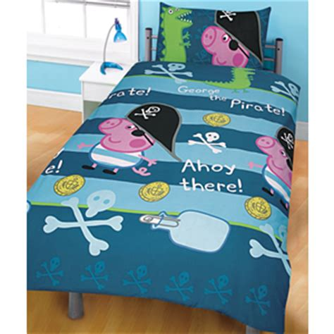 george pig bedroom accessories peppa pig pirate george single rotary duvet set rest and