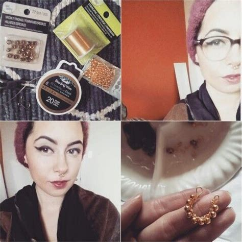 diy septum piercing diy faux septum ring from fancymade s torial craft diy diy and crafts