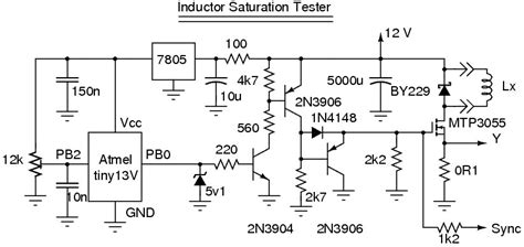 alan yates laboratory inductor saturation tester