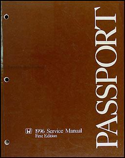 download car manuals 1996 honda passport user handbook 1996 honda passport repair shop manual original