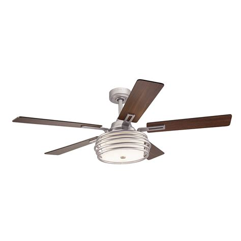 kichler ceiling fans with lights shop kichler bands 52 in brushed nickel downrod mount