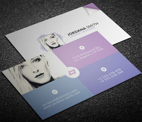 personal cards templates new modern style corporate business cards design