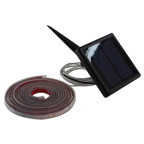 Eclairage Led Solaire Exterieur by Ruban Led Solaire Kumba 170 Lm Noir Inspire Leroy Merlin